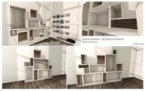 Scarlet Creative My Modular Shelves
