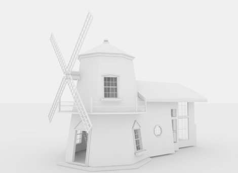 Scarlet Creative Clay Render Windmill Original Design